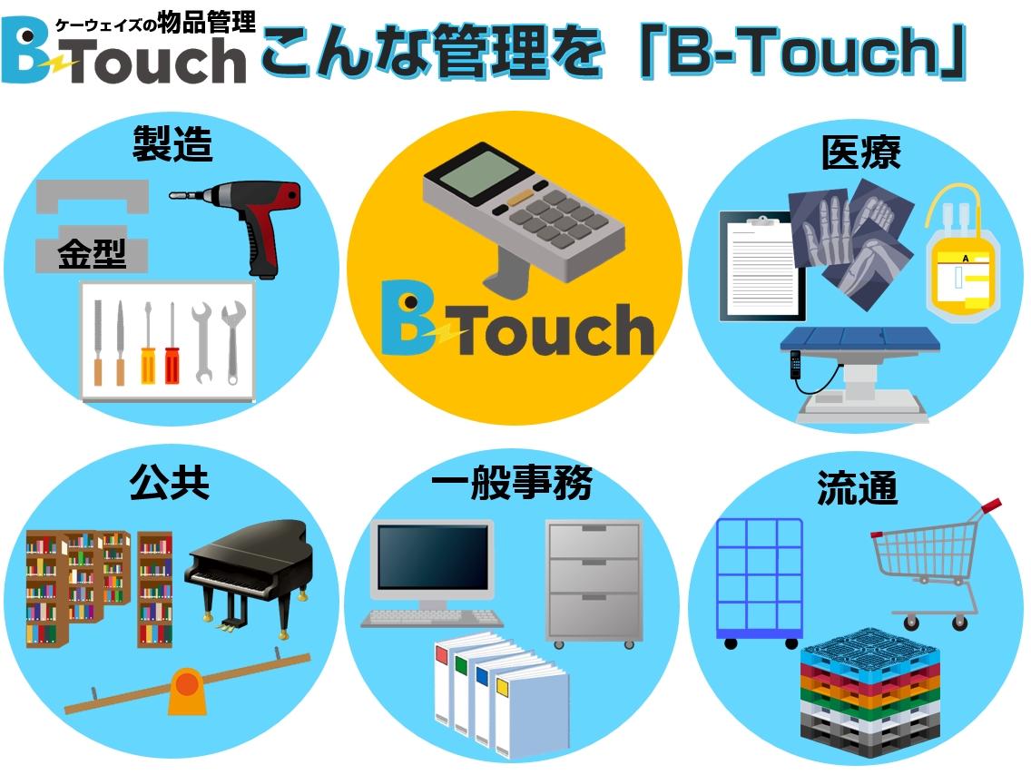 物品管理システムの対応範囲業界