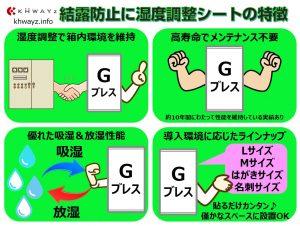 湿度調整シートG-ブレスの特徴