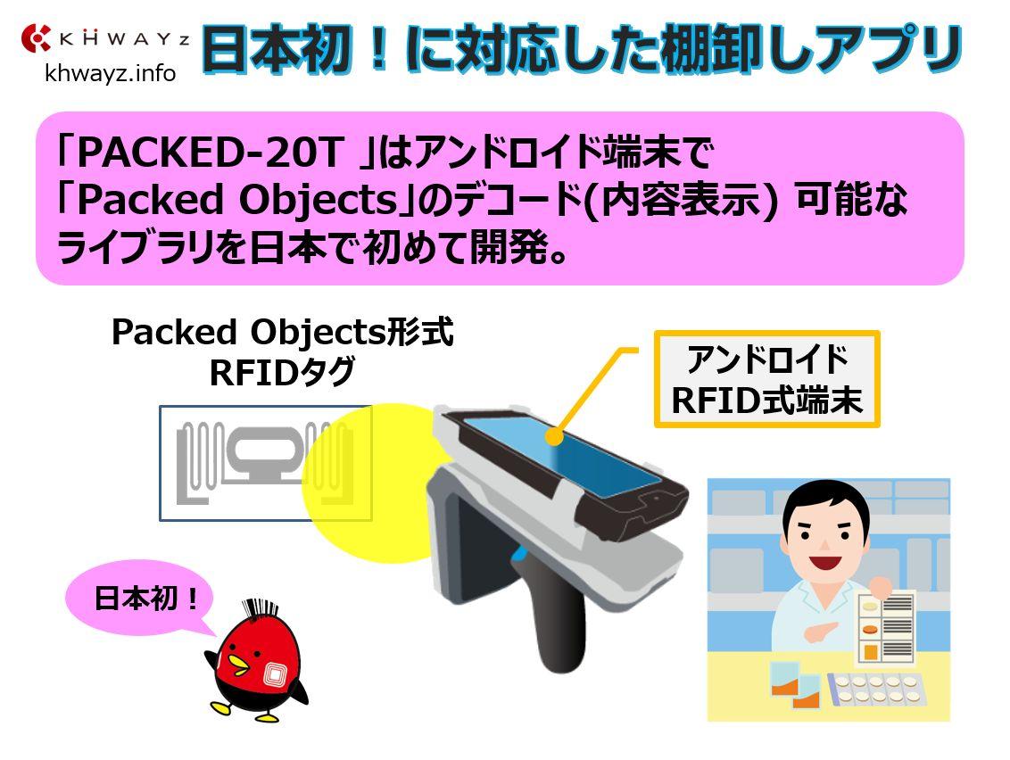 医療向け棚卸しアプリPacked Objects対応概要