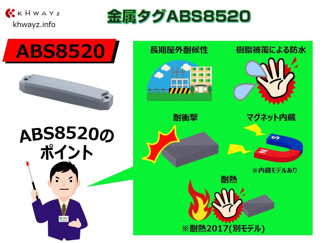 金属対応RFIDタグABSシリーズ