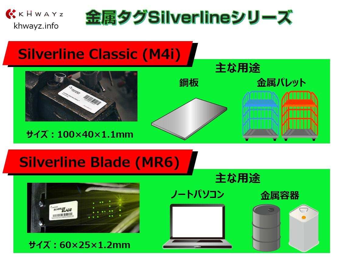 金属対応RFIDタグSilverlineシリーズ